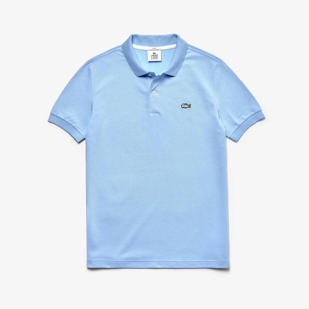 Match or share multiple colors, Lacoste's Unisex Live Slim Fit Polo is perfect for sharing. Easy to match colors will make it a new favorite.[Details] Solid two-ply cotton petit piqué Two-button polo collar Slim fit Ribbed finishes Embroidered crocodile appliqué on chest Cotton (94%), Elastane (6%)
