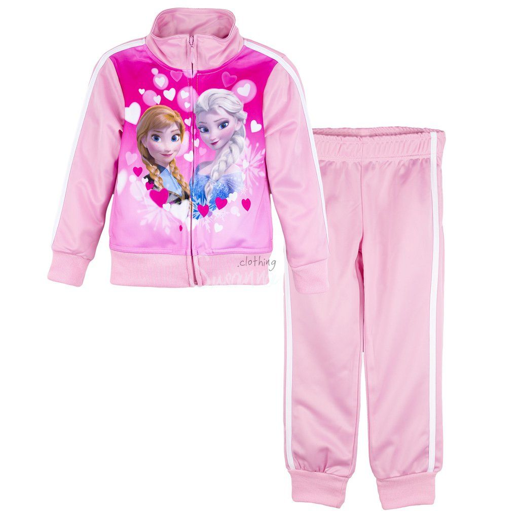 Disney Frozen Girls Sport Tracksuit, Outfit Set 3-8 years - Pink