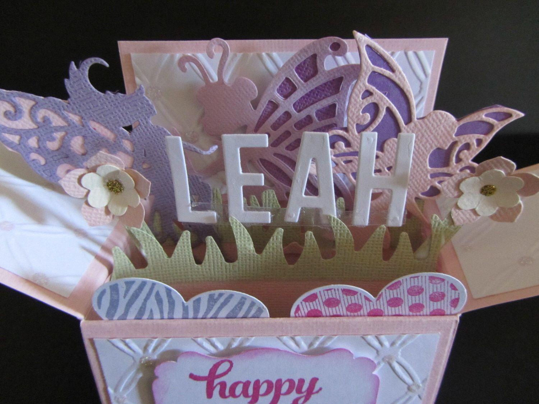 handmade 3d birthday card in a boxfairies personalised