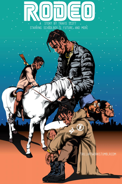Rodeo Travis Scott Hip hop art, Travis scott