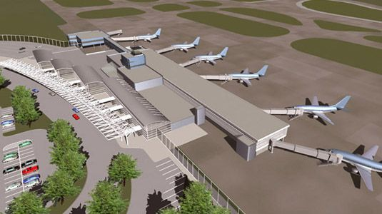 Amazing Airport Terminal work by URS Corp> Toledo Express Airport Terminal Development Master Plan