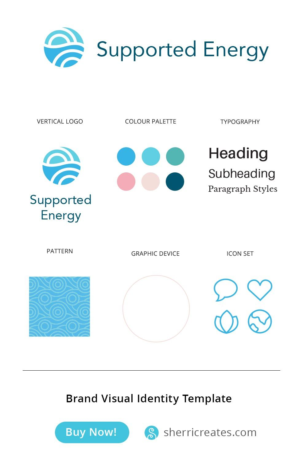 Supported Energy Visual Identity Visual Identity Identity Branding Shop