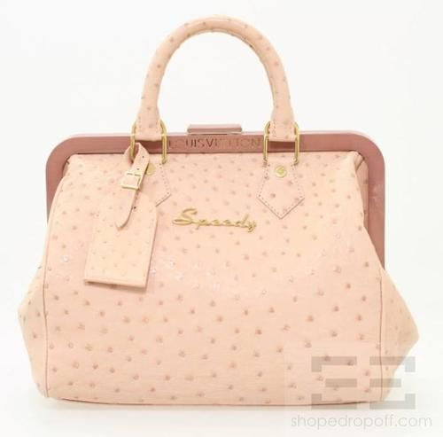 292f48803bcd Details about Louis Vuitton Limited Edition Pink Ostrich Skin Speedy ...