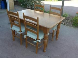 Marks Spencer French Pine Extending Table And 4 Chairs Rayleigh
