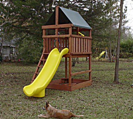 Triton Fort w/Scoop Slide Dog Sold Separately   Backyard ...
