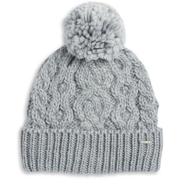 Hat Gray Chevron Hat Grey Heather winter Hat hand knitted Hat