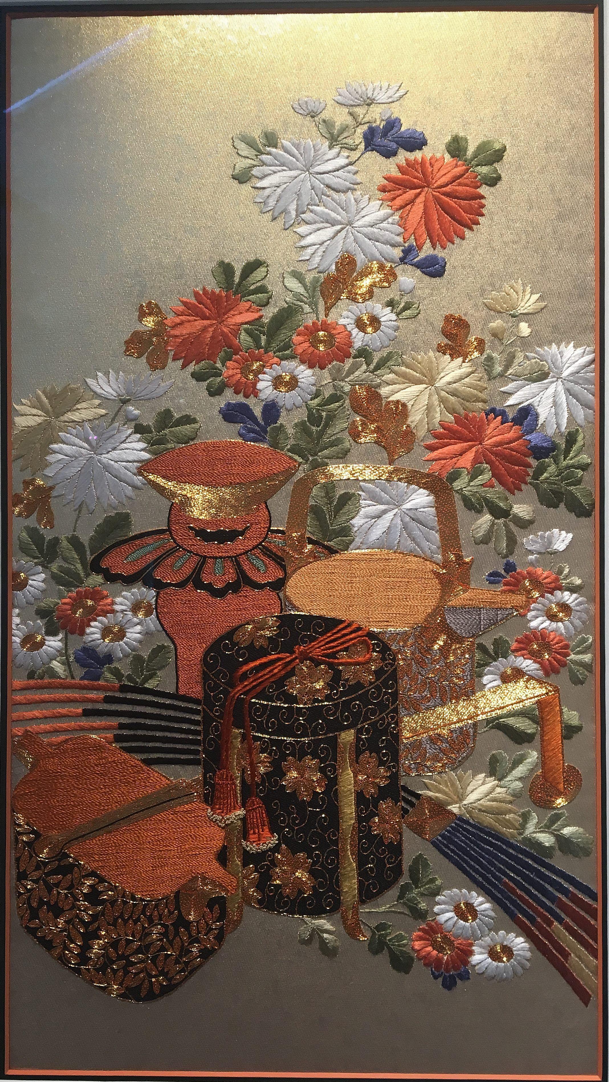 K. Patel, Sake Box Japanese Embroidery
