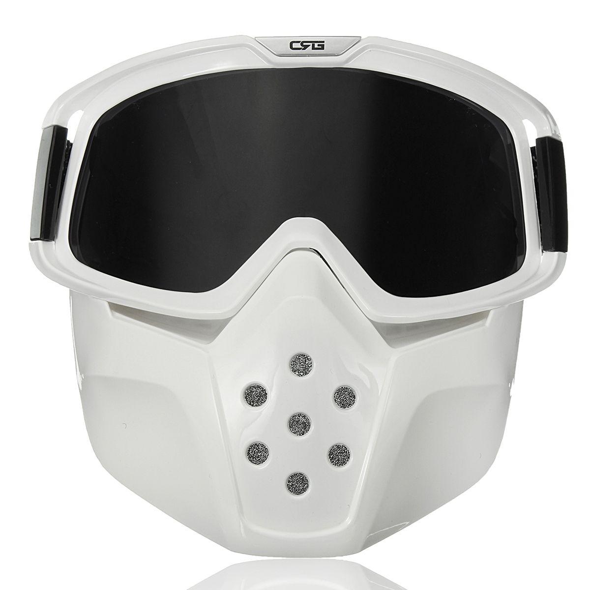 cbfc897b89 Máscara de protección facial con gafas modulares desmontables para casco de  motocicleta