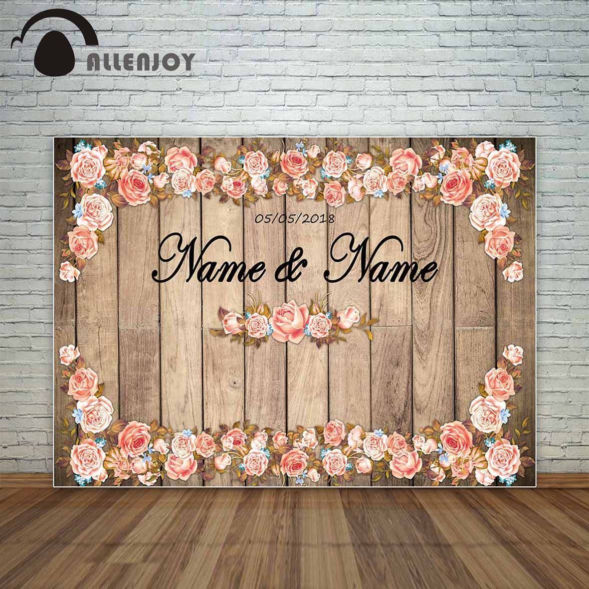 Allenjoy Photography Backdrop Vintage Wedding Wood Flowers Romantic Lovers Backdrop Background For Pho Backdrops Backgrounds Photography Backdrops Wood Flowers