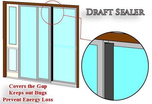 Draft Sealer For Sliding Glass Doors Bug Protection Weather