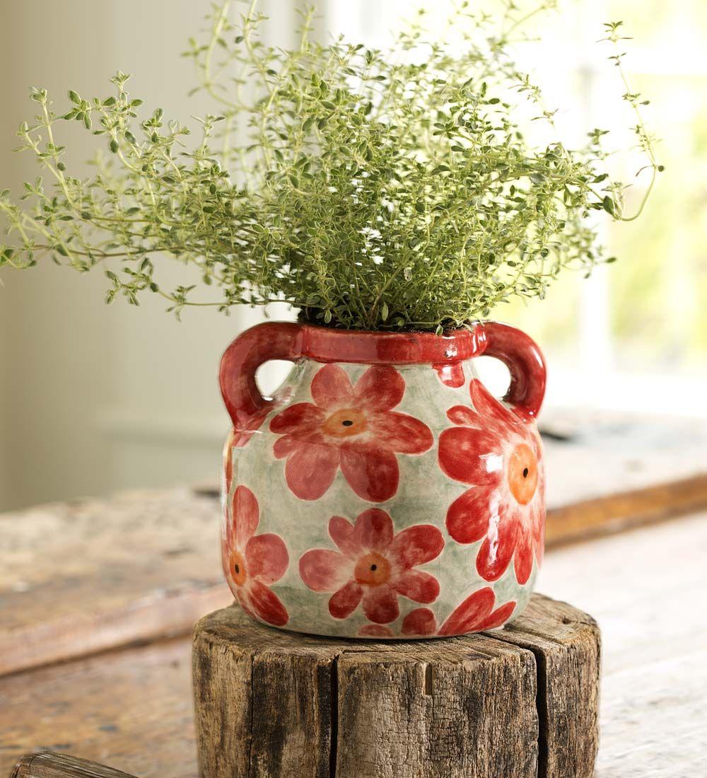 Ceramic Floral Bud Vase in Vases