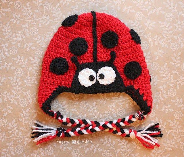 Crochet Ladybug Hat Pattern | Hüte, Hauben und Babysachen