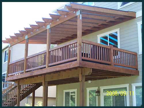 Inspiring Deck Cover Build Deck Over Patio