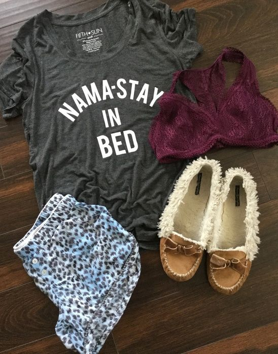 Feeling lazy on this overcast and rainy day.  Not planning on getting dressed anytime soon. #pjsallday #sundaysareforpjs #pjsallday #notreadyformonday #needmorecoffee #namasteinbed #denverblogger #ootd #ootm #ssCollective #shopstylecollective #myshopstyle