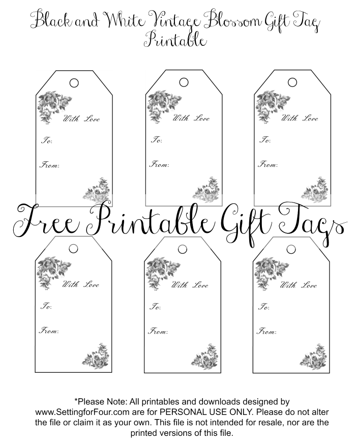 Get Your FREE Vintage Blossom Printable Gift Tags! These Beautiful Floral Gift  Tags Are Perfect