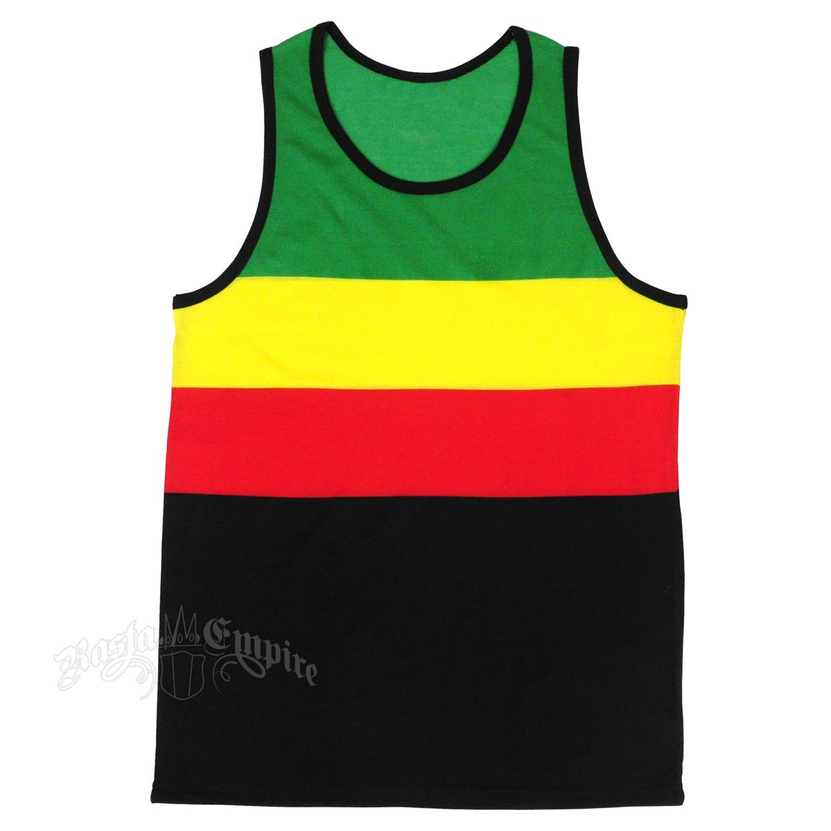 Design t shirt reggae - This Tank Top Features Bold Green Yellow Red And Black Stripes And Is