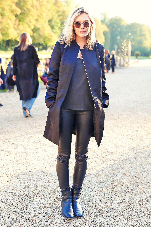 5947e4ee82e5 Elizabeth Olsen attends The Row Fashion Show at Paris Fashion Week ...
