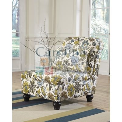 Floral Accent Chair With The Accent Welting Details Adorning The