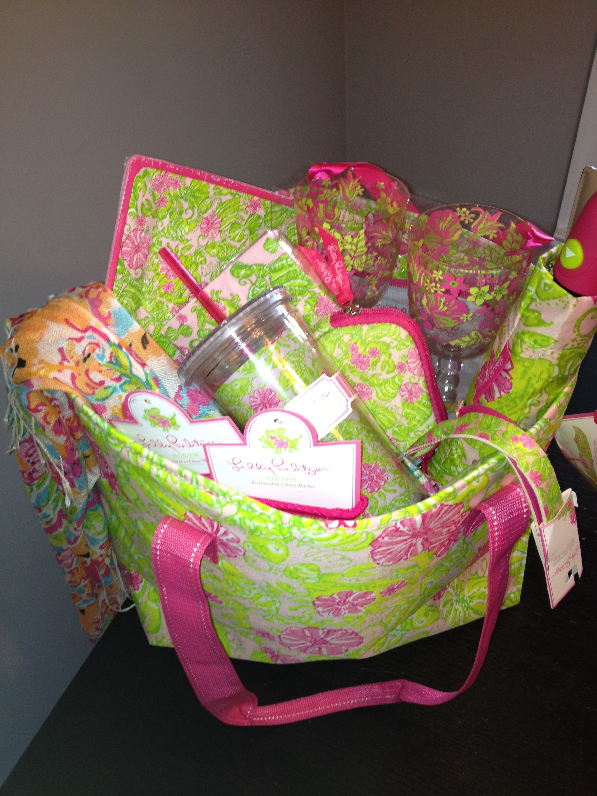 Celebrate summer in style with a gift basket courtesy of Lilly Pulitzer.