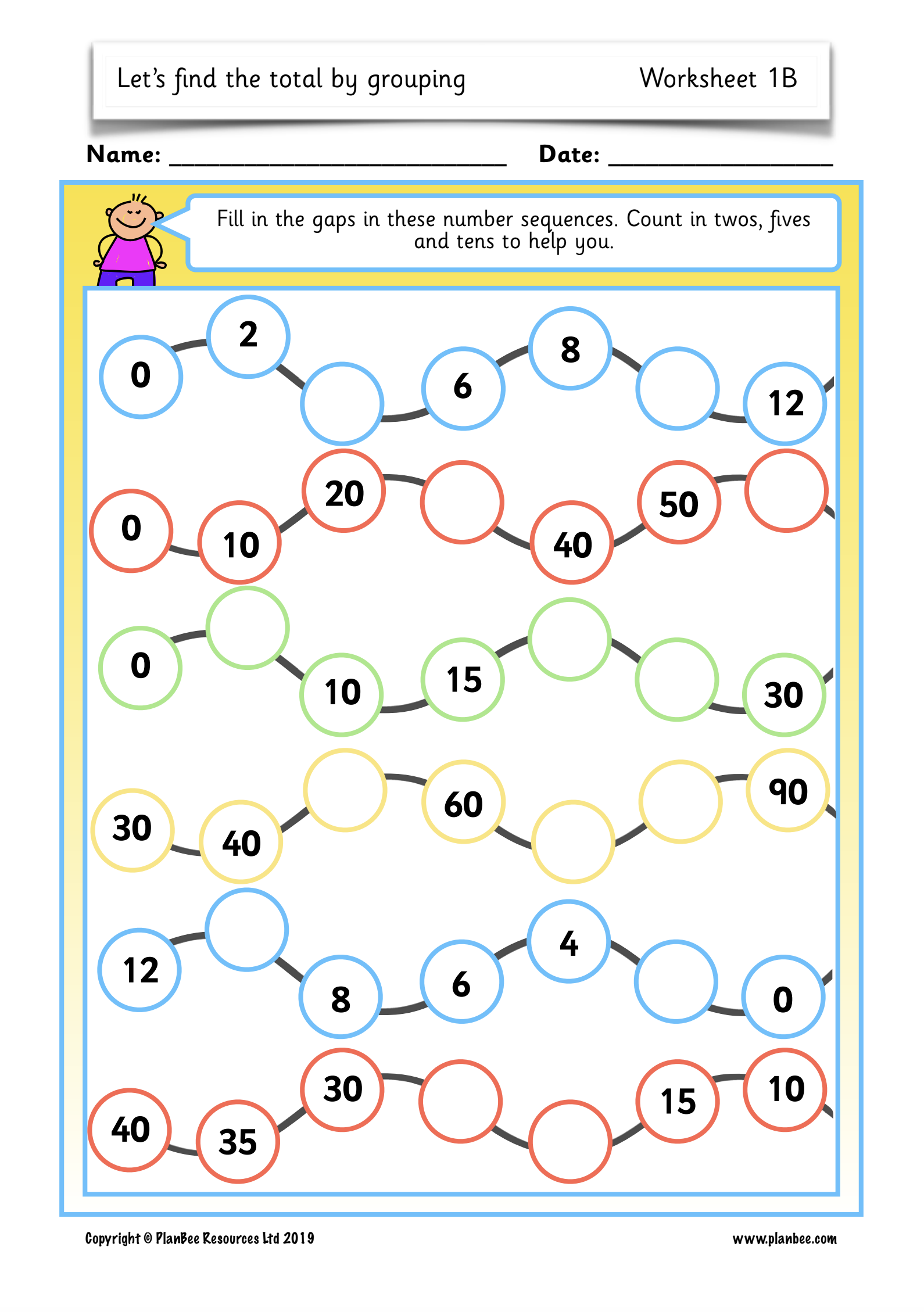 Let S Find The Total By Groupinglesson 1 Counting In Twos Fives And Tens Educational Math Activities Primary Maths Activities Ks1 Maths Worksheets