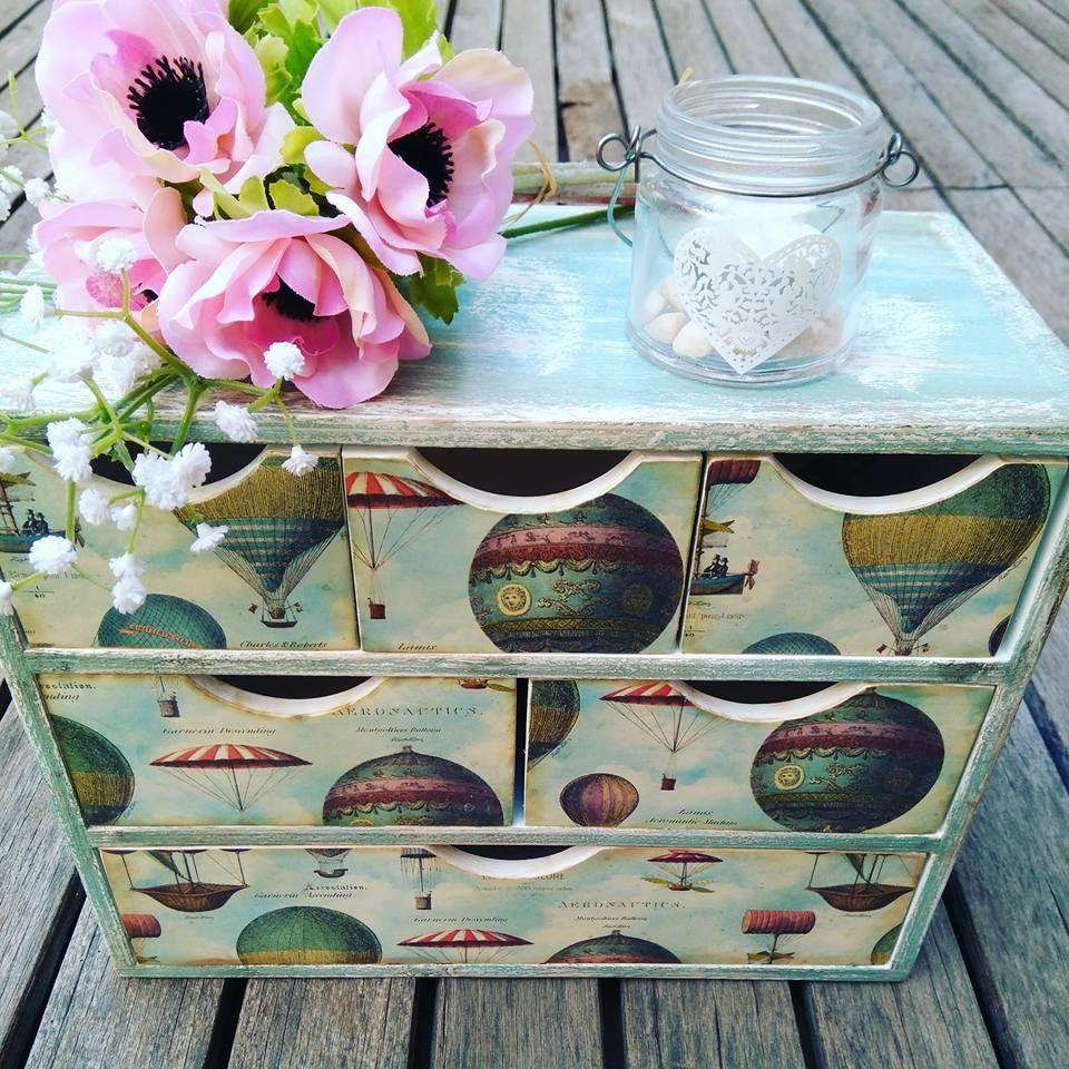 C mo decorar una cajonera vintage con chalk paint y papel - Cajas ordenacion ikea ...