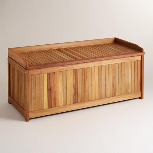 Worldmarket Com Wood Outdoor Storage Box Perfect For All