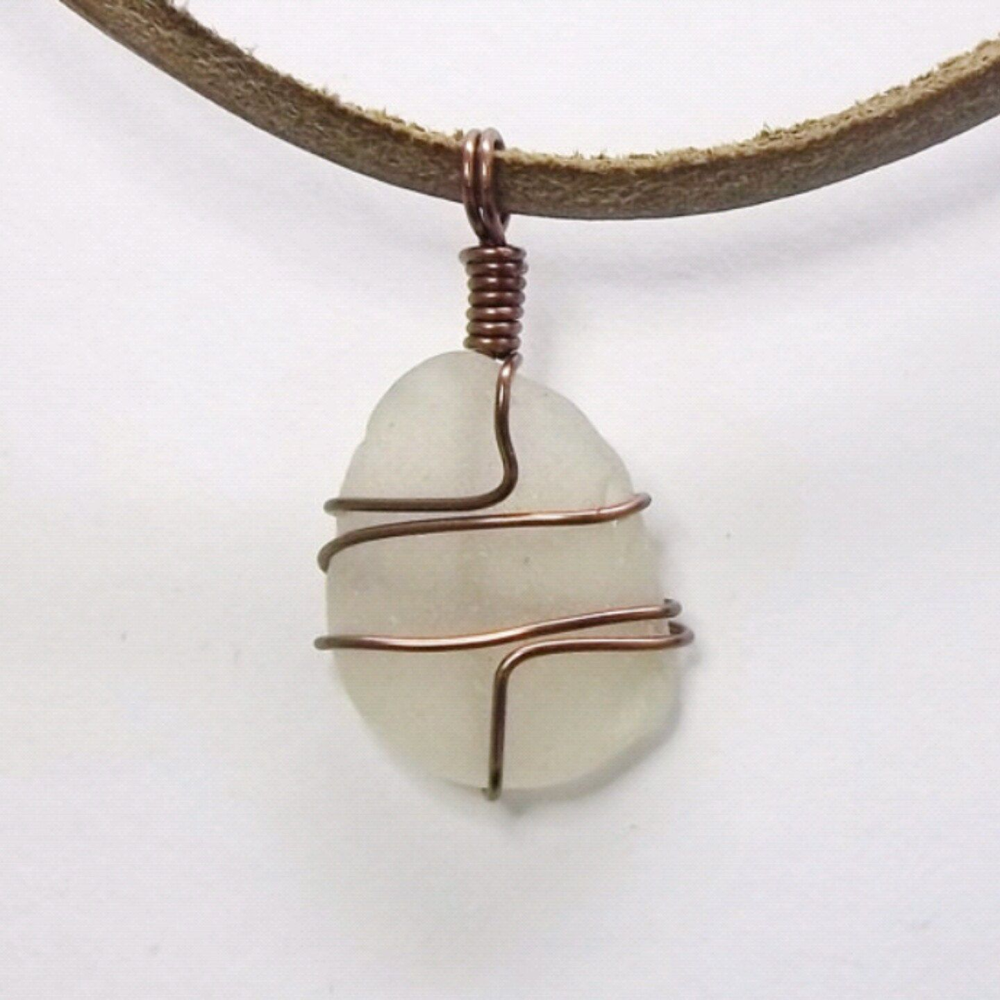 Necklace made with White Lake Erie beach glass. | Things I Made ...