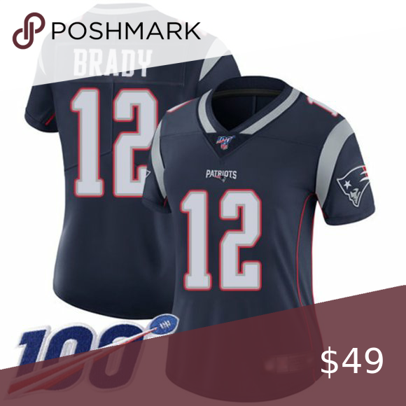 New England Patriots 12 Tom Brady Jersey Women Attention Please All Items Will Need 5 10days Processing Before Shipped In 2020 Womens Jersey Tom Brady Jersey Jersey