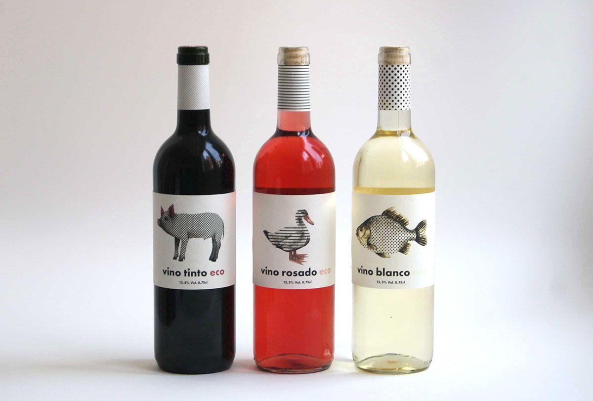 Illustrated Wine Labels On Behance Wine Label Design Wine Wine Design