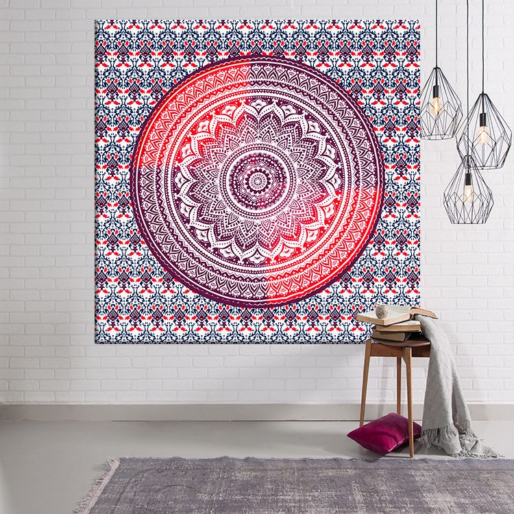 3D Indian Compass Pattern Mandala Tapestry Home Wall Hanging