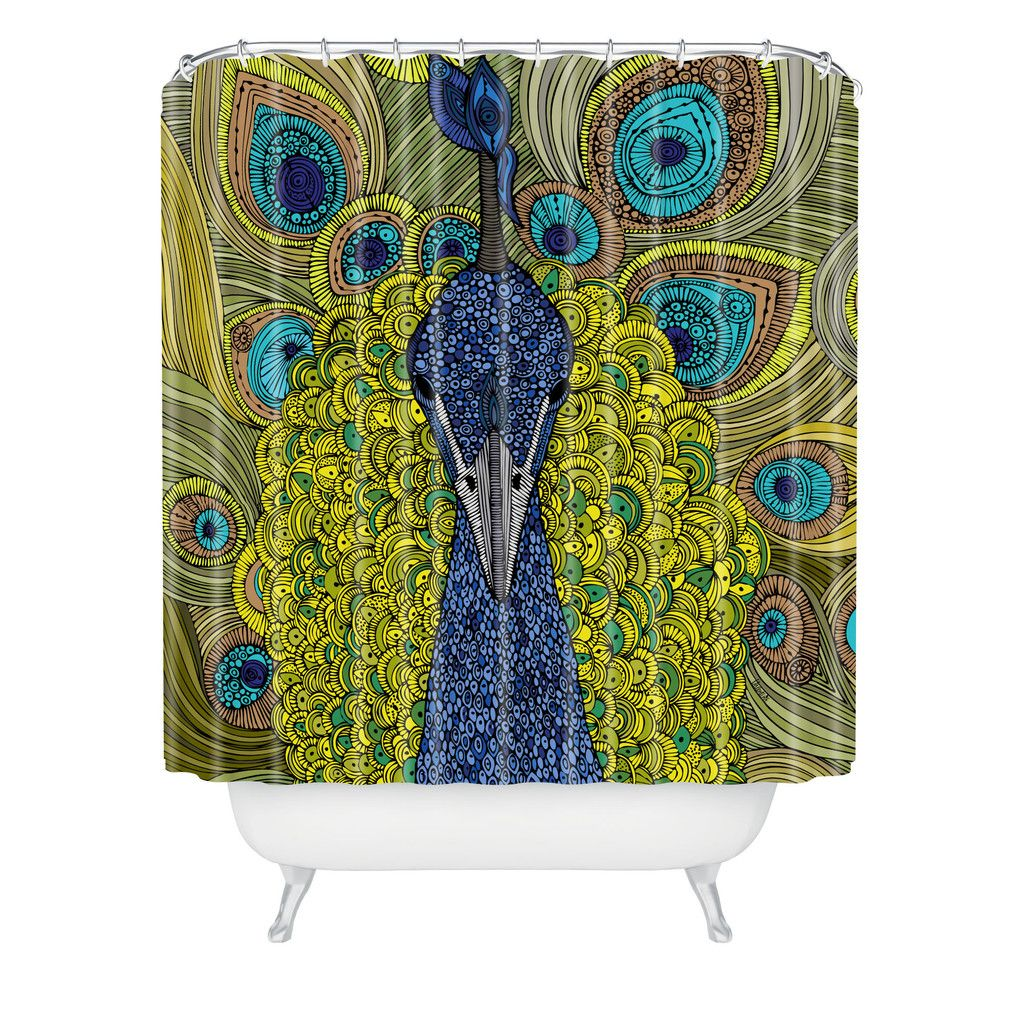 Valentina Ramos Mr Pavo Real Shower Curtain | DENY Designs Home Accessories