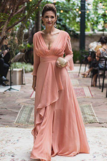 Vestido de festa mãe da noiva