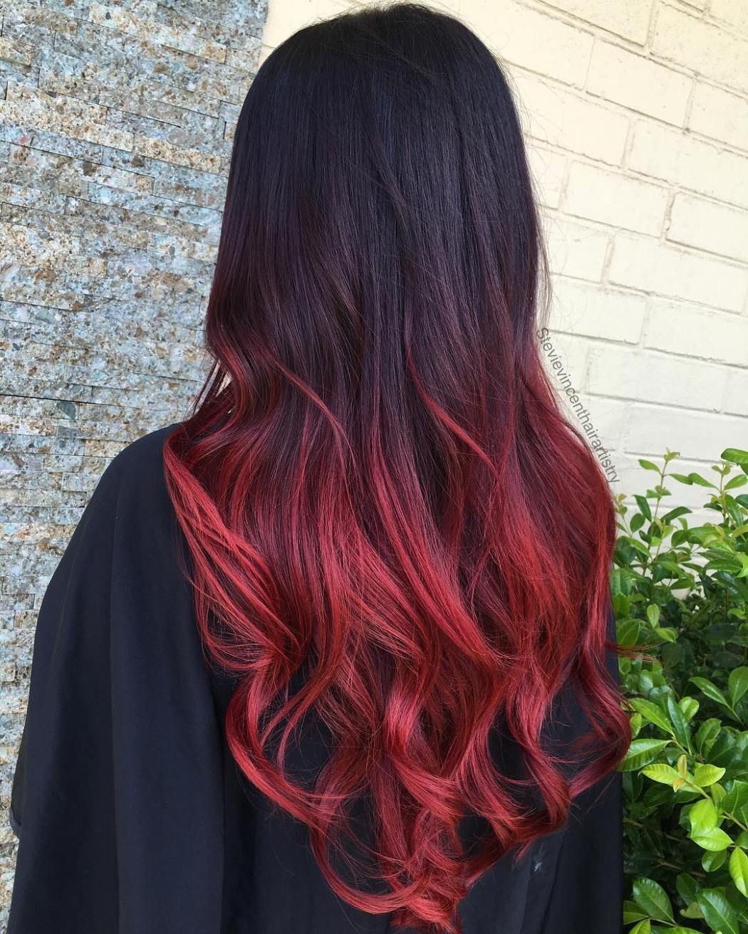 60 Best Ombre Hair Color Ideas For Blond Brown Red And Black Hair Black Hair Red Ombre Black Hair Ombre Hair Color For Black Hair