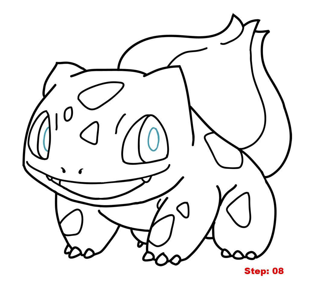 Bulbasaur Drawing Pokemon Coloring Pokemon Coloring Pages