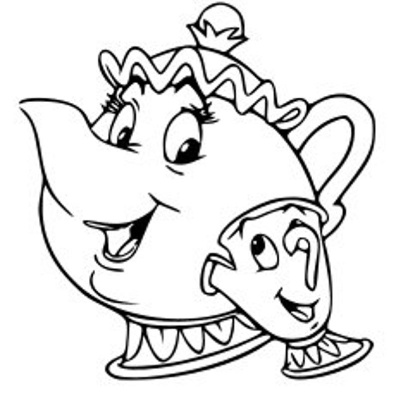 Disney Mrs Potts And Chip Beauty And The Beast Tea Pot Tea Etsy Beauty And The Beast Drawing Disney Princess Coloring Pages Disney Coloring Pages