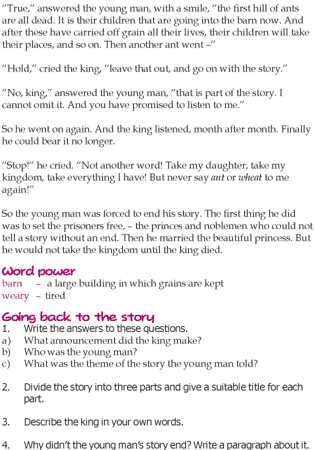 Grade 5 Reading Lesson 23 Short Stories The Story Without An End
