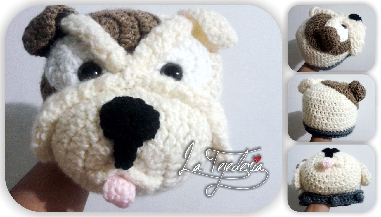 Bull Dog crochet hat #LaTejedería Gorro tejido de Bull Dog | La ...
