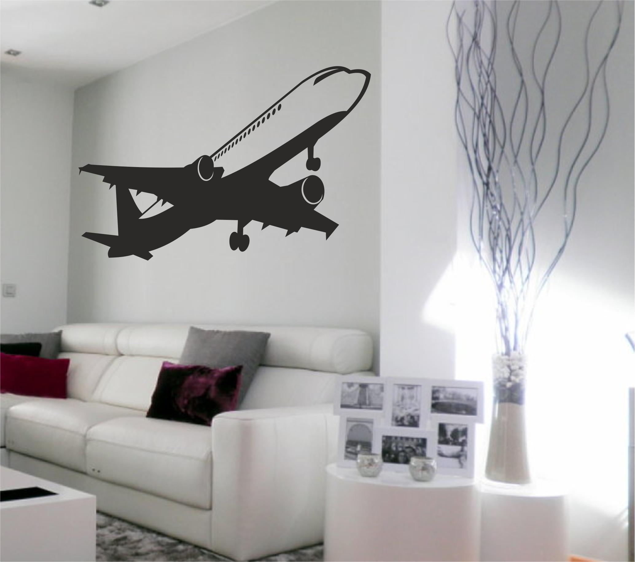 Vinilo Avión Diseño De Cuarto Decoración De Unas Decoración Del Hogar