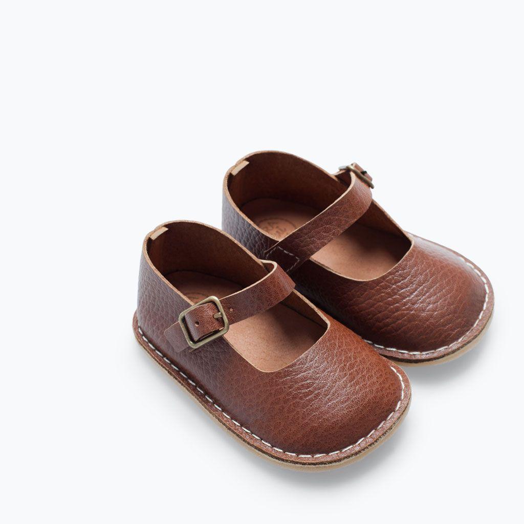 ZARA - MINI - LEATHER BALLERINA | Calzado para bebes ...
