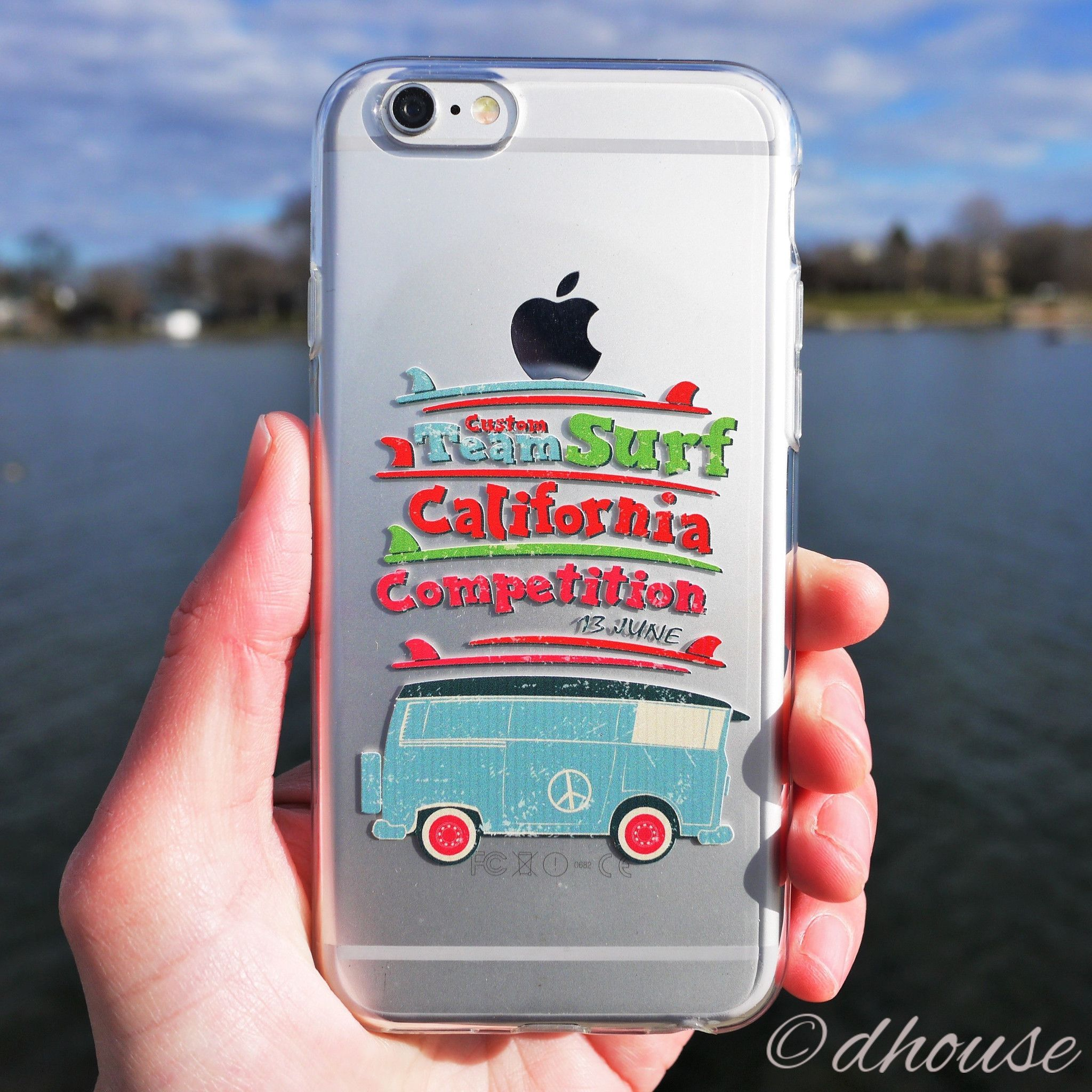 MADE IN JAPAN Soft Clear iPhone Case - California Surfer