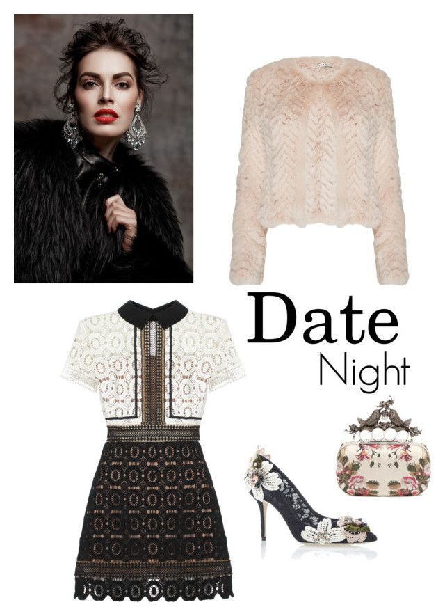 """Date Night"" by aclassymay on Polyvore featuring Alice + Olivia, Dolce&Gabbana, self-portrait, Alexander McQueen, women's clothing, women, female, woman, misses and juniors"