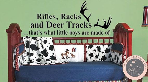 Vinyl Wall Decal Deer Antlers What Little Boys Are Made Of