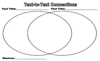 Making Text To Text Connections Worksheet With Images Text To