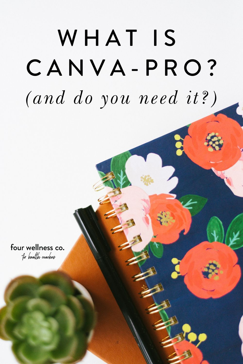 4 Ways to Boost Your Business with Canva // Four Wellness