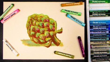 Artichoke in Oil Pastel {beginner tutorial!) | Artichokes, Blog ...