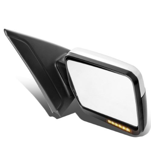 For 2004 To 2014 Ford F 150 Chrome Amber Signal Manual Extendable Side Towing Mirrors Right Passenger Towing Mirrors Ford F150 Truck Accessories