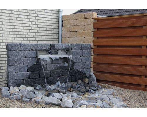 Mauerstein Ibrixx Passion Twee Schwarz 37 5x12 5x12 5cm Bei Hornbach Kaufen Mauerstein Granit Palisaden Mauer