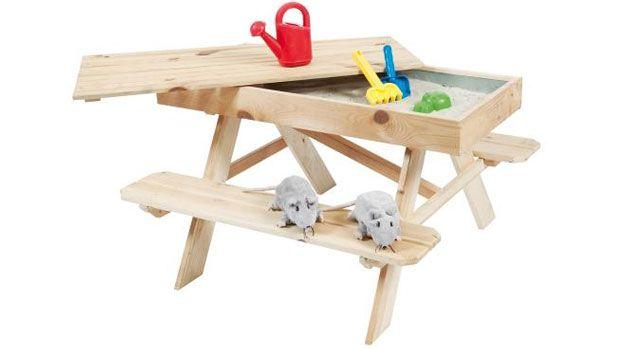 Kinder Picknick Tafel : Kinderpicknicktafel met zandbak baby peuter kleuter spullen