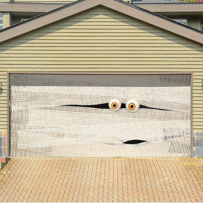 The Holiday Aisle Mummy Face Garage Door Mural Size 84 H X 192 W Halloween Garage Door Door Murals Halloween Garage