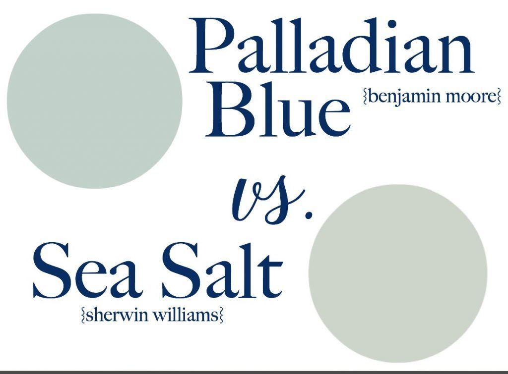how to choose a paint colorSea Salt vs Palladian Blue  How to Choose a Paint Color without